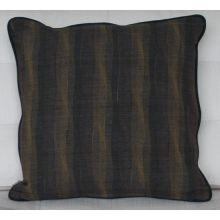 Tsusu Japanese Crane Square Pillow, 1920's Textiles