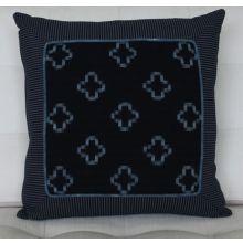 Kasuri Square Pillow, Vintage 1920's Textiles