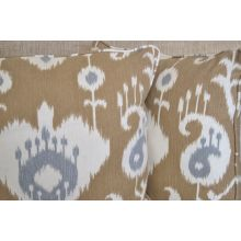 Tan And Grey Ikat Pillow