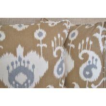 Tan And Grey Ikat Pillow