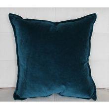 Turquoise Velvet Pillow
