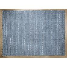 9' x 12' Indigo Block Print Rug