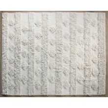 8' x 10' Beige Diamond Stripe Rug