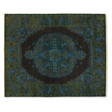 9' X 10' Azure Bold Patterned Rug