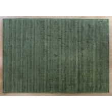 9' X 12' Green Hand Knotted Geometric Carved Rug