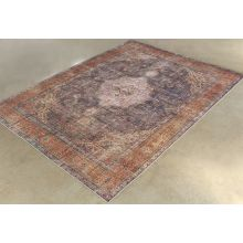 "8' 4"" X 11' 6"" Antique Plum/Multi Wool Rug"