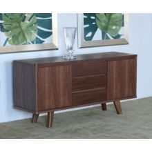 Natural Walnut Danish Modern Style Sideboard