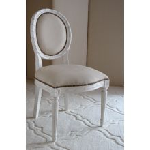 Oly Sophie Side Chair in Sand Leather Upholstery