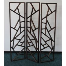 Walnut 3-Panel Spiderweb Screen