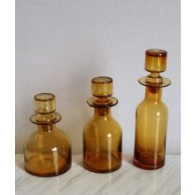 Set of 3 O'Connor Decanters in Amber