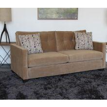 Caramel Tufted Velvet Sofa
