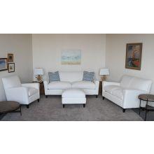 Modern White Denim Sofa
