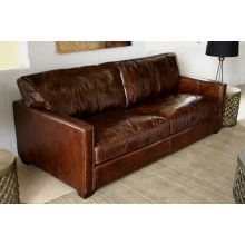 """Larkin 88"""" Sofa in Cigar Leather"""