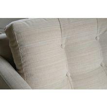 Tufted Vanilla James Chair with Walnut Legs