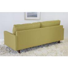 Modern Fern Sofa with Tapered Walnut Legs