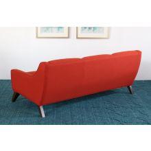 Tightback Rust Sofa with Splayed Walnut Legs