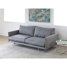 Union Sofa in Charcoal with Brushed Stainless Steel Legs