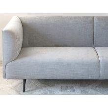 Rockford Sofa in Gray with Powder Black Legs