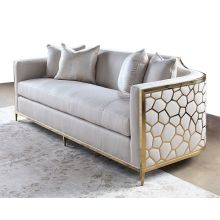 Gold Bullion Cobblestone Sofa