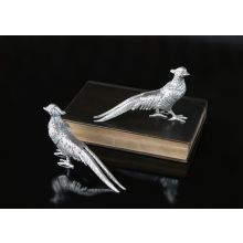 Pair of Nickel Plated Pheasants