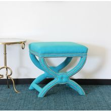 Tennyson Stool in Turquoise