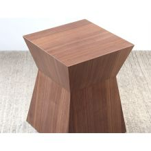 Natural Walnut Pawn Stool