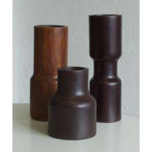 Set of 3 Assorted Wood Vases