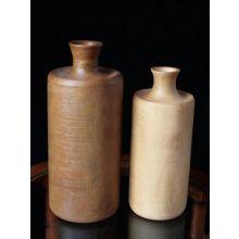 Set of 2 Wooden Bottle Vases