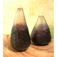 Set of 2 Amethyst Gem Vases