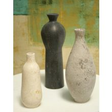 Set of 3 Marble Vases