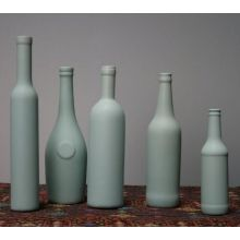 Set of 5 Assorted Mineral Green Ceramic Bottles