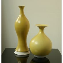 Set of 2 KleinReid Curry Yellow Vases