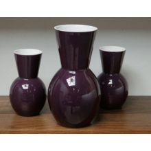 Set of 3 Plum Vases