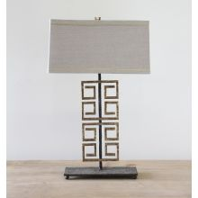 Gold Greek Key Table Lamp