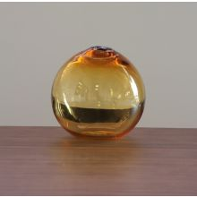Large Amber Float Hand Blown Glass Vase - Cleared Décor